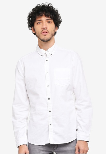 ESPRIT white Woven Long Sleeve Shirt ES374AA0SY0YMY_1