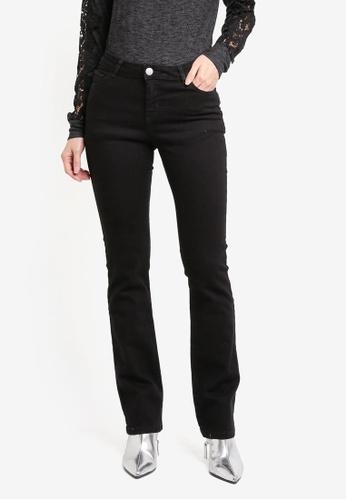 Dorothy Perkins black Regular Bootcut Jeans DO816AA0T04TMY_1