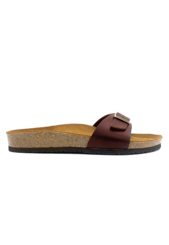 SoleSimple red Lyon - Red Leather Sandals & Flip Flops B57F8SH7386487GS_1