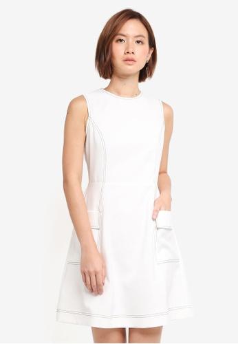 ZALORA white Flap Pocket Detail Dress FF59AAA6E39221GS_1