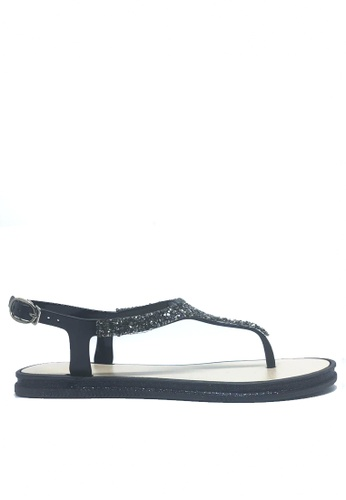 Twenty Eight Shoes black Crystal T-Strap Jelly Flat Sandals A99-2 ED38ESH15244F2GS_1