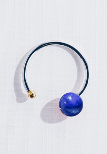 Paradeisos Jewellery silver and gold Galaxy Natural Lapis Lazuli Ring PA467AC0GHUFSG_1