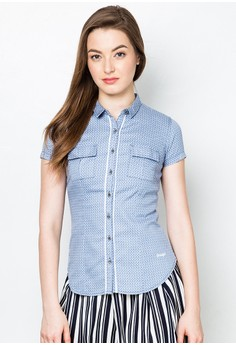 Collared Short Sleeves Top