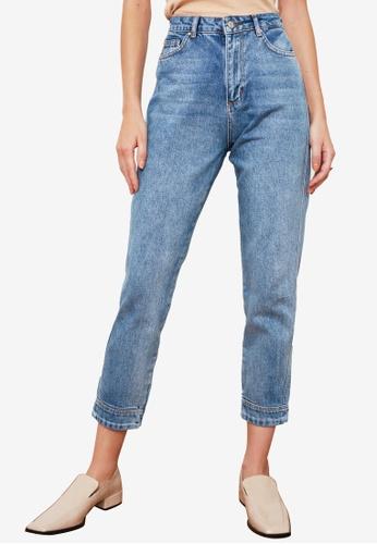 Trendyol blue High Waist Mom Jeans 8C1BEAAC176F68GS_1