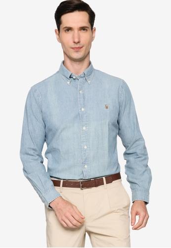 Polo Ralph Lauren 藍色 Cubdppcs Long Sleeve Sport Shirt DF421AA0532960GS_1