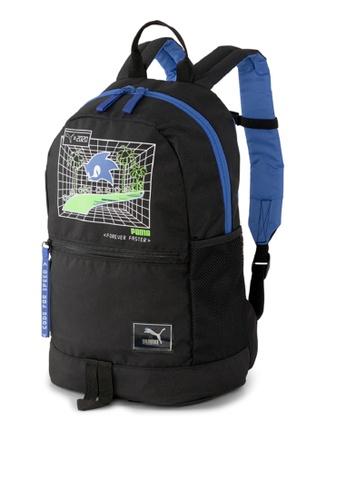 Puma black Puma X Sega Backpack 1E093KC706CAF7GS_1
