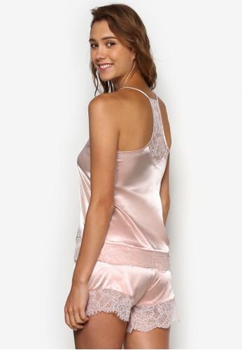 Eloise 蕾絲飾背心睡衣套裝, 服飾,esprit outlet 家樂福 服飾