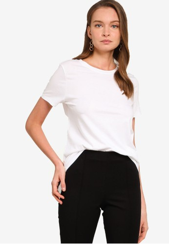 Banana Republic white SUPIMA® Cotton Crew-Neck T-Shirt 9E3E1AA4355D87GS_1