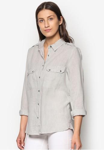 雙口袋mango 手錶長袖襯衫, 服飾, 服飾