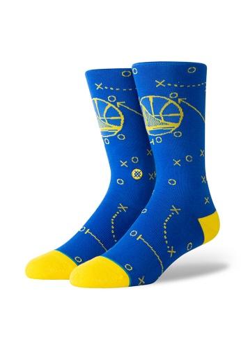 STANCE blue STANCE Socks Blue Warriors Playbook Large 1E567AA59B7577GS_1
