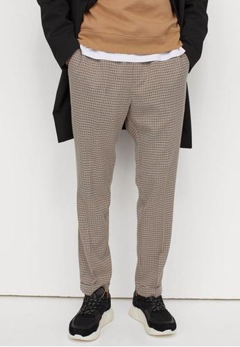 H&M multi and beige Slim Fit Joggers BA54DAAB9F167CGS_1