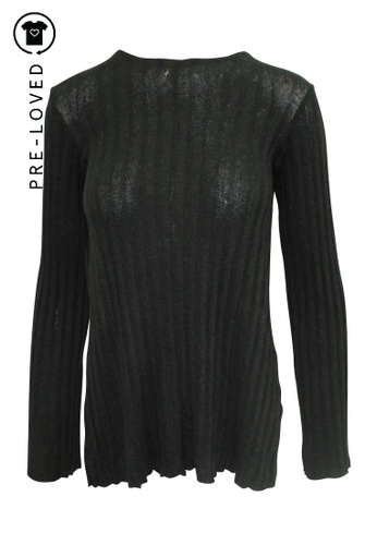 Reformation black Pre-Loved reformation Black Striped Top/ Tunic CA847AA3C74287GS_1