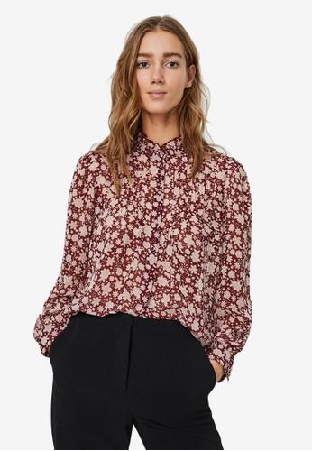 Vero Moda red Molly Pleat Shirt 8A546AA753239BGS_1