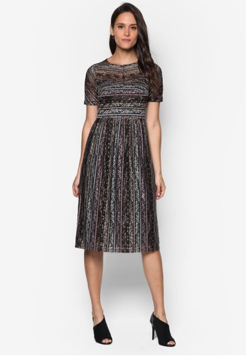 蕾絲短袖及膝洋裝, 服尖沙咀 esprit飾, 洋裝
