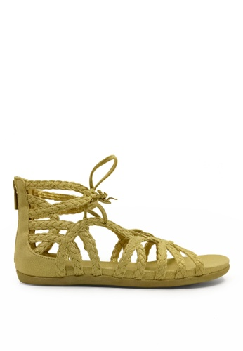 Kenneth Cole New York gold SLIM LOOP - Gladiator Sandal KE615SH08CZRMY_1