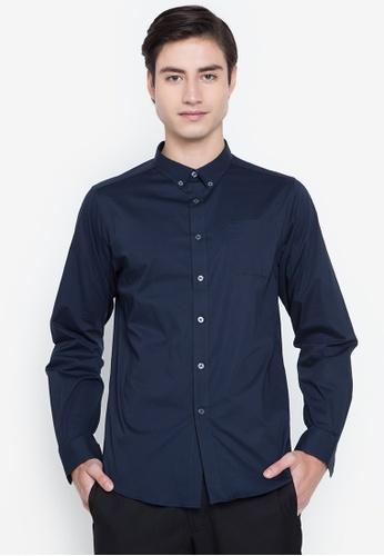 MEMO navy Ultimate Basics Long Sleeves Shirt 6FBE5AA4570DE9GS_1