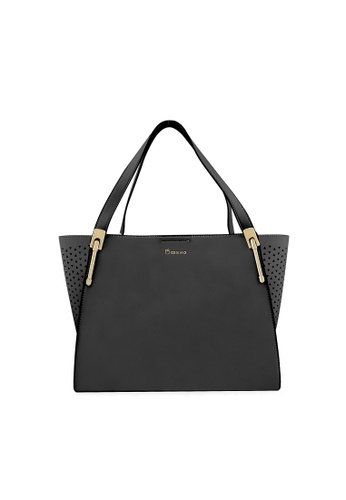 CO BLANC black CO BLANC - Perforated Tote Bag D21B9ACD332B8EGS_1