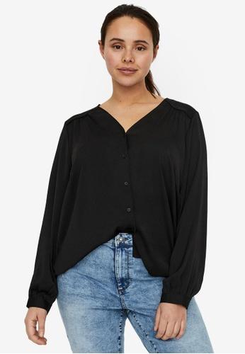 Vero Moda black Plus Size Liv Shirt 951A6AA479D18CGS_1