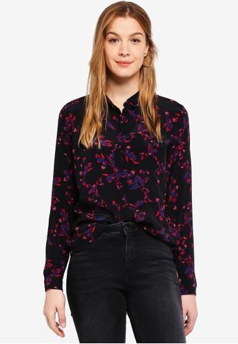 Modstrom black and multi Jesla Print Shirt 0DFE5AA80BC8B2GS_1
