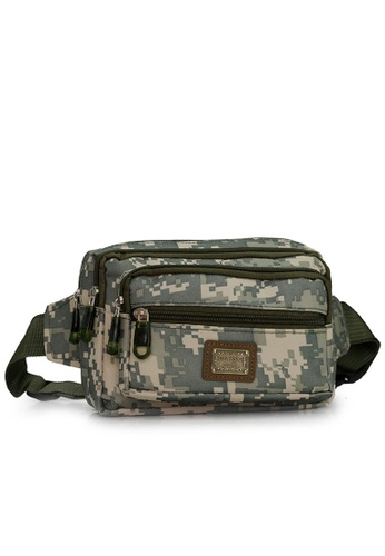 Jackbox grey Multi Compartment Camo Shoulder Waist Pouch Bag 704 (Grey Camo) JA762AC22WMZMY_1