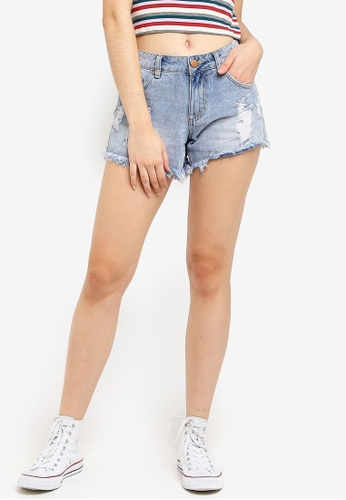 Cotton On blue Mid Rise Saturday Denim Shorts 84F42AA237F879GS_1