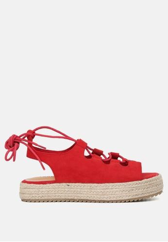 London Rag 紅色 系带凉鞋 F9EE8SHA87BE0CGS_1