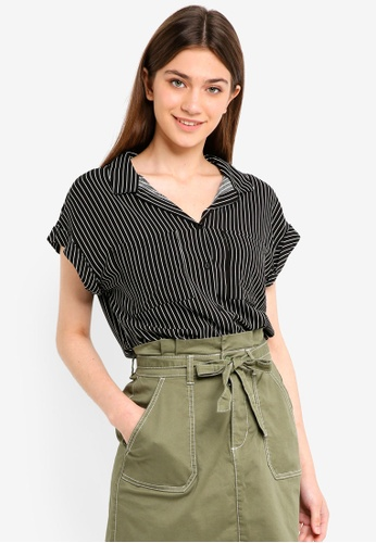 Cotton On black and white Emily Short Sleeve Shirt A9463AA5508762GS_1