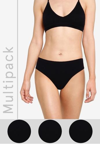 Cotton On Body black Seamless Bikini Cut Briefs 3 Pack 5F6F2US0659EA6GS_1