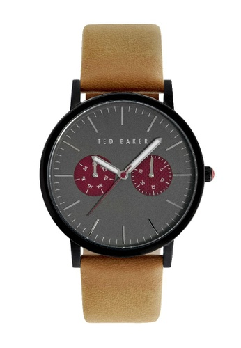 TED BAKER black and brown Ted Baker Men's 10024783 Smart Casual Analog Watch 6151CAC78260E3GS_1