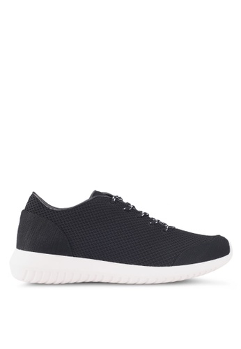 ZALORA black Knit Sneakers 42F66SHCE17E54GS_1