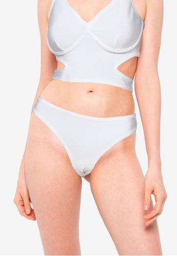 Public Desire white Bandage V Front Bikini Bottom 1F7EBUS0A885C0GS_1