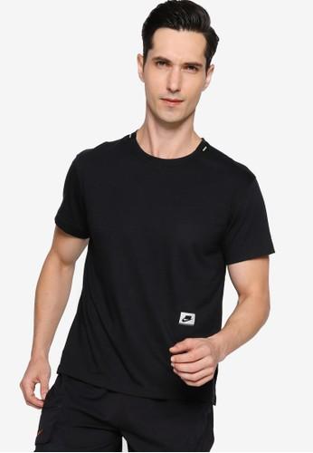 Nike black and grey Dri-FIT Men's Short-Sleeve Training Top FABADAA55DE964GS_1