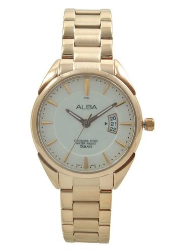 Alba gold ALBA Jam Tangan Wanita - Rosegold White - Stainless Steel - AH7H56 AL383AC72HHNID_1