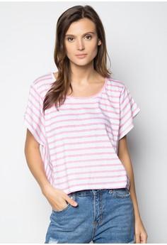 Bea Stripes Shirt-Pink White