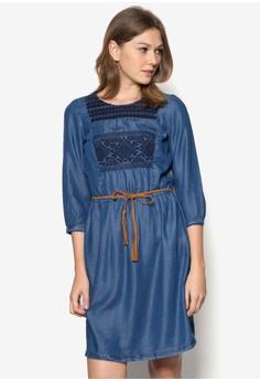 Round Neck Denim Dress