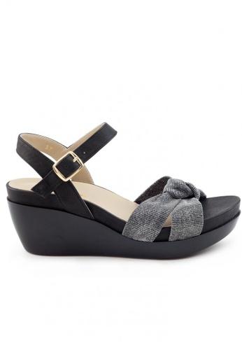 Shu Talk 黑色 牛皮高貴鬆糕涼鞋 SH544SH099SWTW_1
