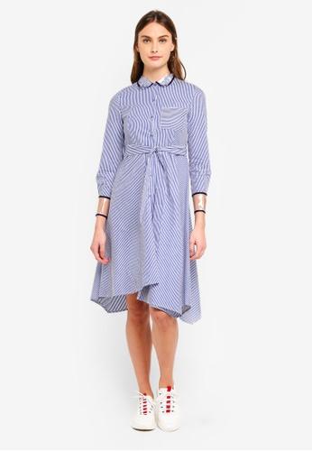 Haute Kelly blue Choon-Hee Stripes Dress 530D5AA45A2DB2GS_1