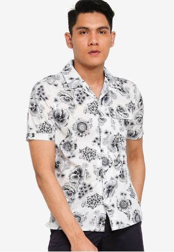 French Connection white Elara Cotton Viscose Shirt F1E3BAA399D319GS_1
