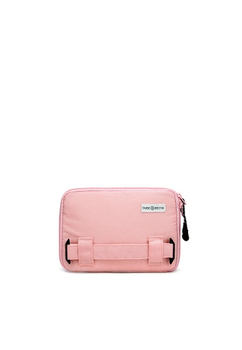 The Dude pink Passage RFID Protected Travel Bag E8A2EACF94474FGS_1
