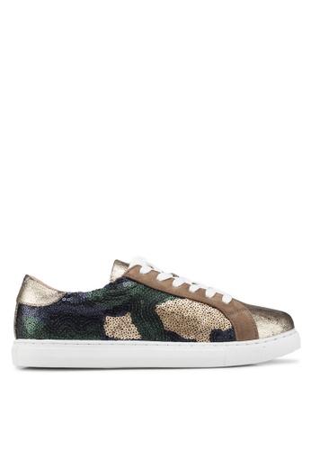 VANESSA WU gold Veny Sneakers 29F38SH8C1FCC2GS_1