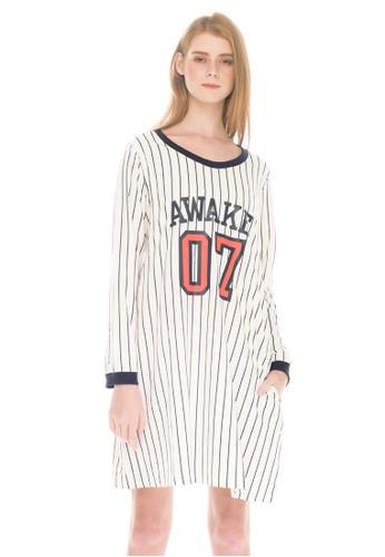 c49e033c7 Jual MOOIMOM MOOIMOM Baseball Long Sleeves Nursing Dress   Baby ...
