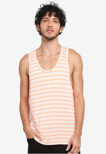 JAXON orange NAUTICAL STRIPE LOGO TANK 71BC4AAAA38C91GS_1