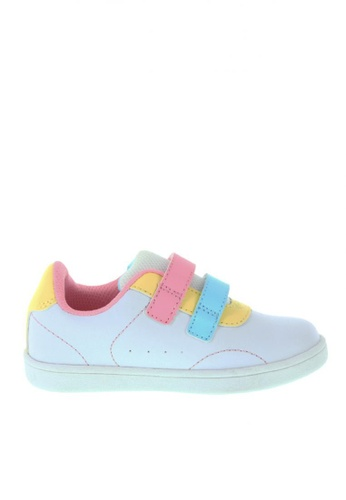 Zoe and Zac white Girls' Toddler Relay Court Sneakers 5D0F8KS6CFEE81GS_1