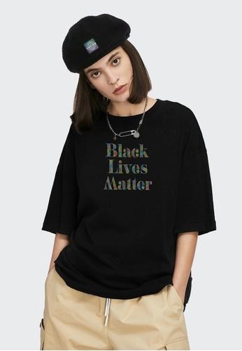 Twenty Eight Shoes Reflective Printed Short T-shirt 5314S21 F10E2AA5CF60EAGS_1