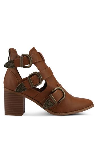 Rubi brown Roxanne Buckle Boots 5FFE0SHCAEC9B7GS_1