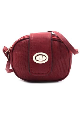Vintage Paris red Rue Cross Body Sling Bag VI567AC17HGCPH_1