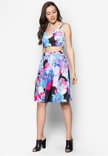 兩件套吊帶印花連身裙,esprit官網 服飾, 服飾