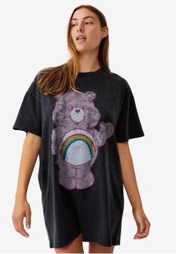 Cotton On Body black 90s T-Shirt Nightie 9AD9CAA5D244A7GS_1