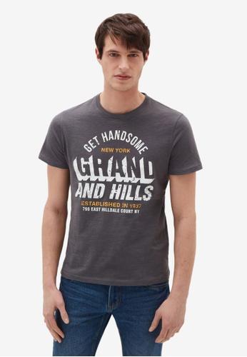 OVS grey Casual T-Shirt 7322EAAAAF55CBGS_1