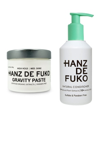 Hanz de Fuko Hanz de Fuko Natural Conditioner and Gravity Paste Set HA369BE11OKMSG_1